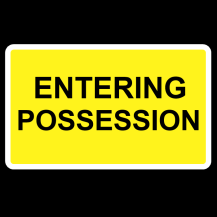 MCE 801/004 – Enter / Leaving Possession Sign