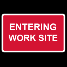 MCE 801/005 – Enter / Leaving Worksite Sign