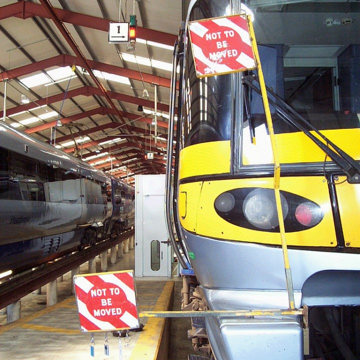 "MCE HTR1 & 2 ""Not To Be Moved"" signs for Heathrow Express"
