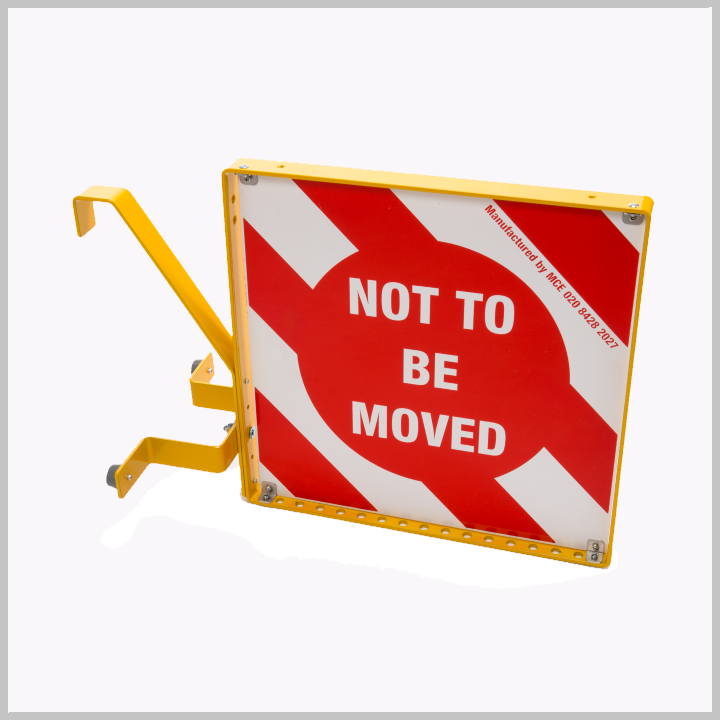 "MCE 802 Standard ""Not To Be Moved"" Hanging Sign (Pads No 056/138011)"